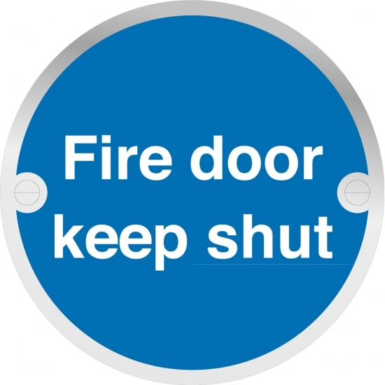 Fire Door Keep Shut Metal Signs