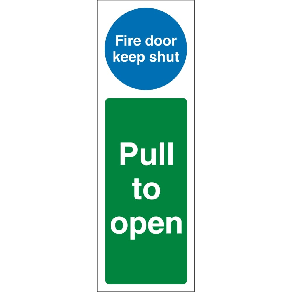 fire door keep shut pull to open signs from key signs uk