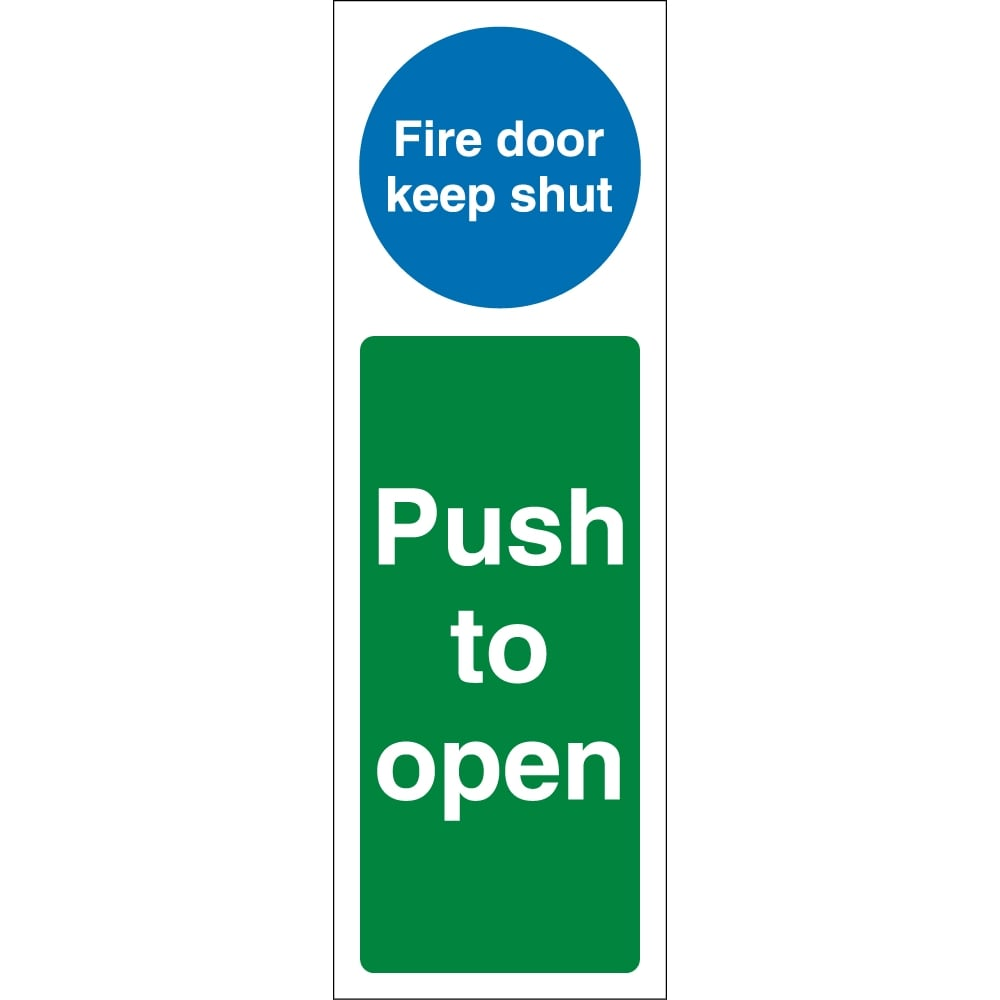 fire door keep shut push to open signs from key signs uk. Black Bedroom Furniture Sets. Home Design Ideas