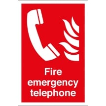 Fire Emergency Telephone Signs