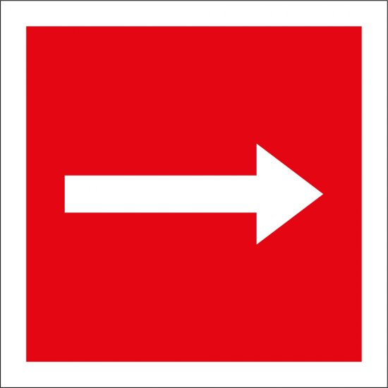 Fire Equipment Arrow Signs