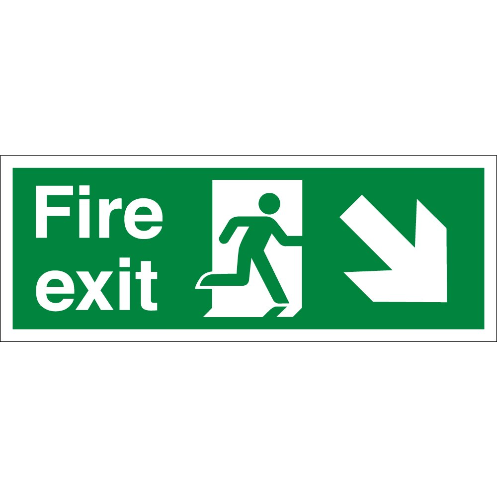 Fire Exit Arrow Down Right Signs From Key Signs Uk