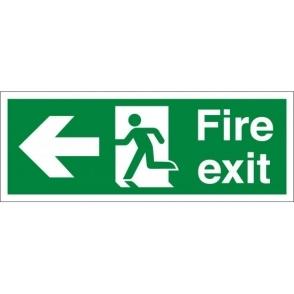 Fire Exit Arrow Left Signs
