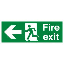 Fire Exit Arrow Left Signs