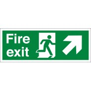 Fire Exit Arrow Up Right Signs