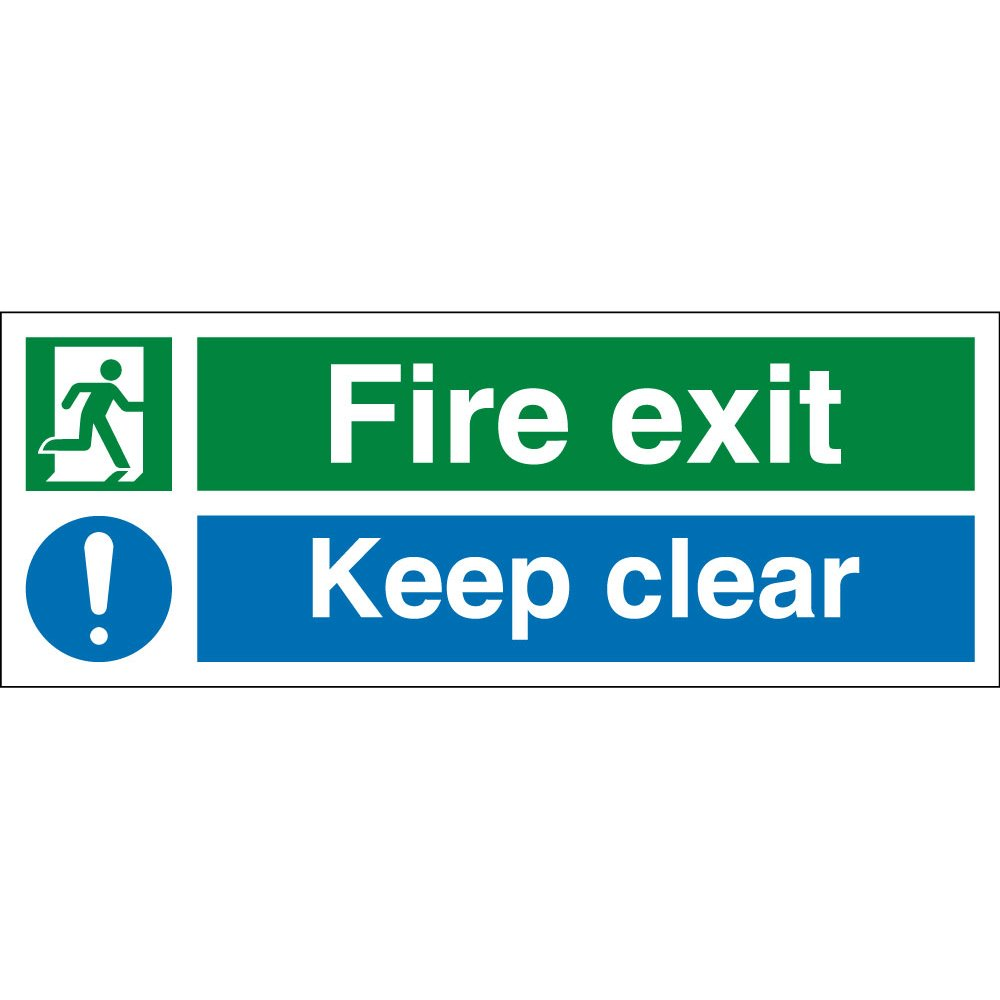 fire exit keep clear signs from key signs uk. Black Bedroom Furniture Sets. Home Design Ideas