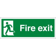Fire Exit Running Man Left Signs