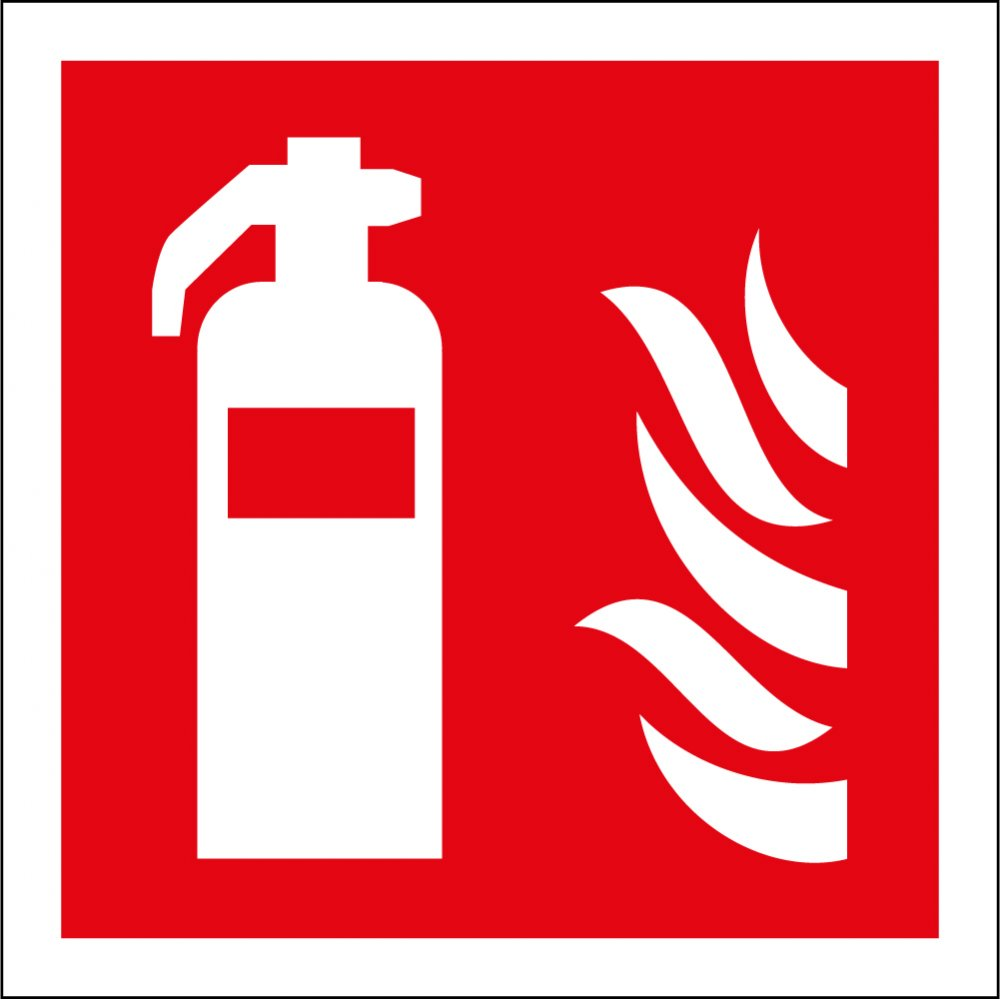 Fire Extinguisher Signs P684 on fire alarm autocad drawings
