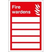 Fire Wardens Signs