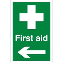 First Aid Arrow Left Signs
