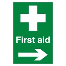 First Aid Arrow Right Signs