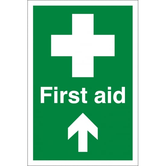 First Aid Arrow Up Signs