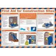 First Aid For Construction Sites Posters 590mm x 420mm