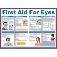 First Aid For Eyes Posters 590mm x 420mm