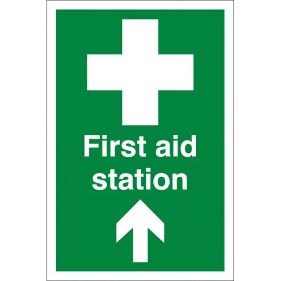 First Aid Station Arrow Up Signs
