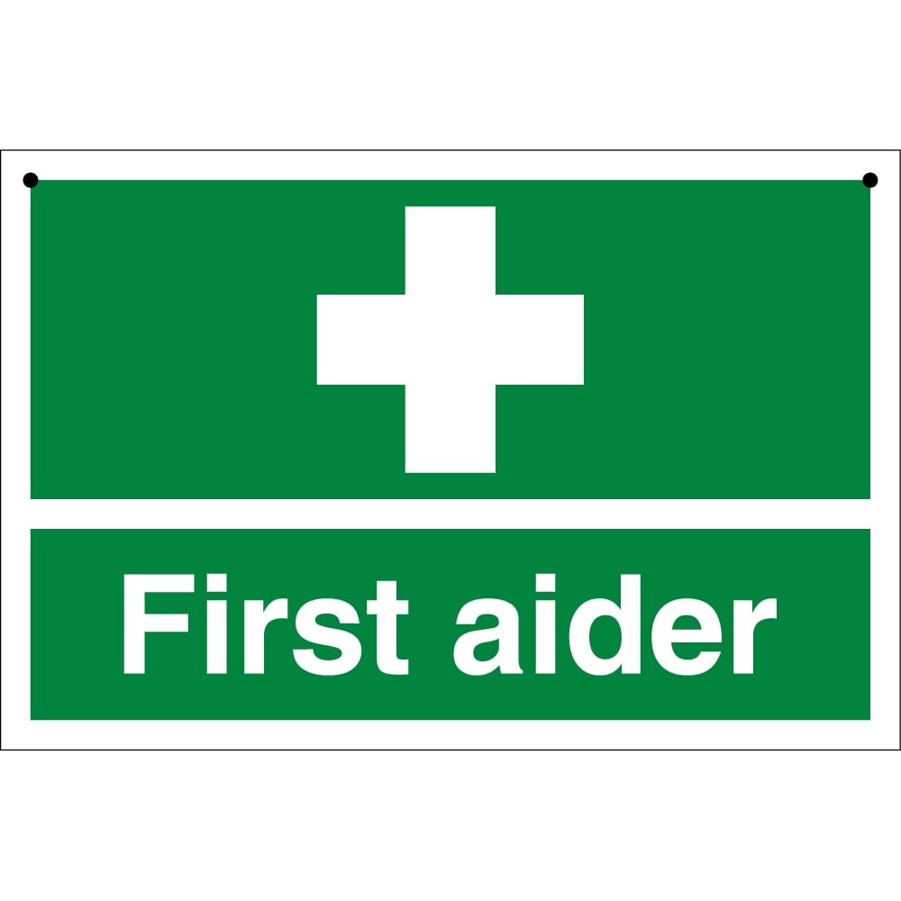 First Aider Double Sided Signs From Key Signs Uk