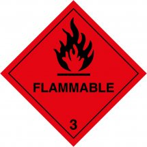 Flammable 3 Labels