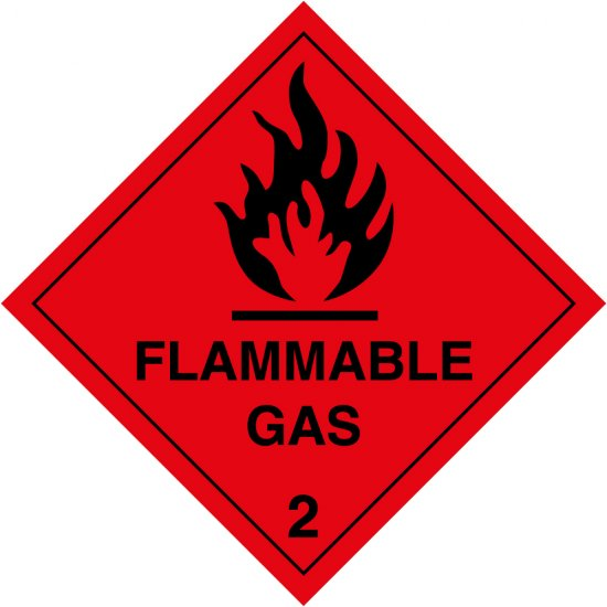 Flammable Gas 2 Labels