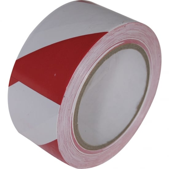 Floor Marking Tape 50mm x 33m Red and White