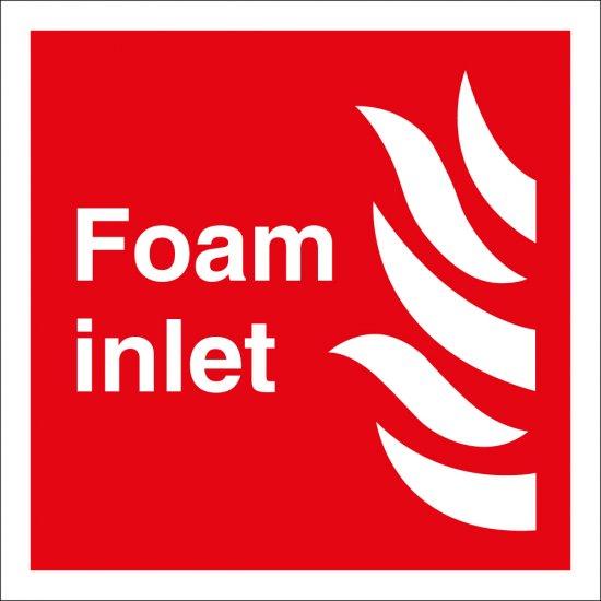 Foam Inlet Signs