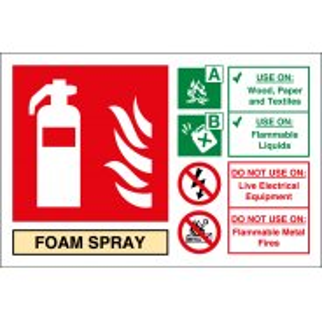 Foam Spray Fire Extinguisher Signs