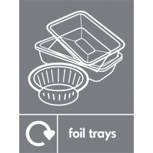 Foil Trays Waste Recycling Signs