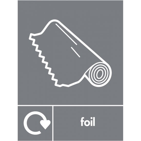 Foil Waste Recycling Signs