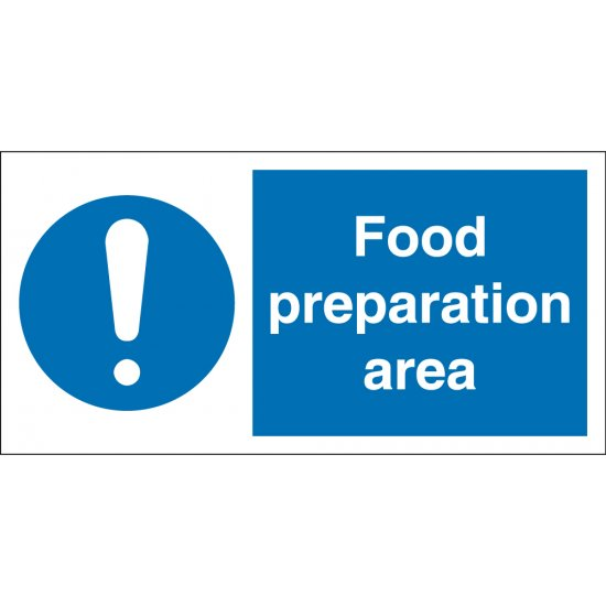 Food Preparation Area Signs