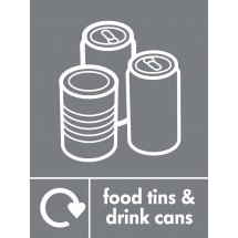 Food Tins And Drink Cans Recycling Signs