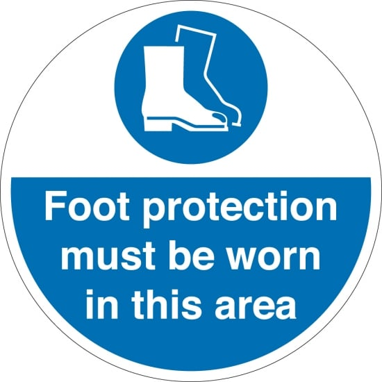 Foot Protection Must Be Worn Floor Signs