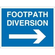 Footpath Diversion Arrow Right Signs