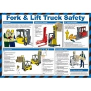 Fork Lift Truck Safety Posters 590mm x 420mm