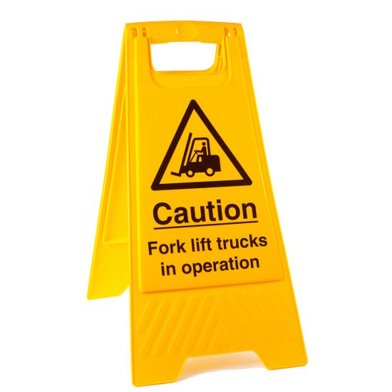 Fork Lift Trucks In Operation Floor Stands