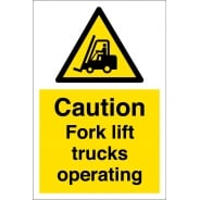 Fork Lift Trucks Operating Signs