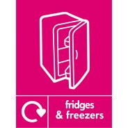 Fridges And Freezers Waste Recycling Signs