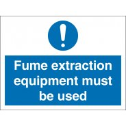 Fume Extraction Equipment Signs