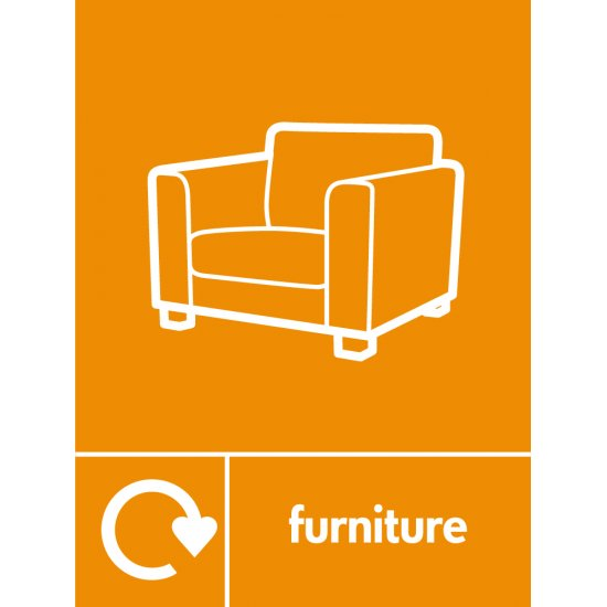Furniture Waste Recycling Signs