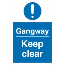 Gangway Keep Clear Signs