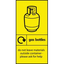 Gas Bottles Recycling Signs