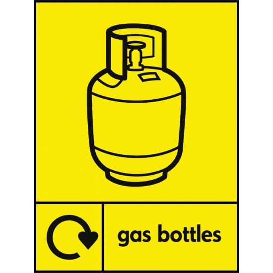 Gas Bottles Waste Recycling Signs