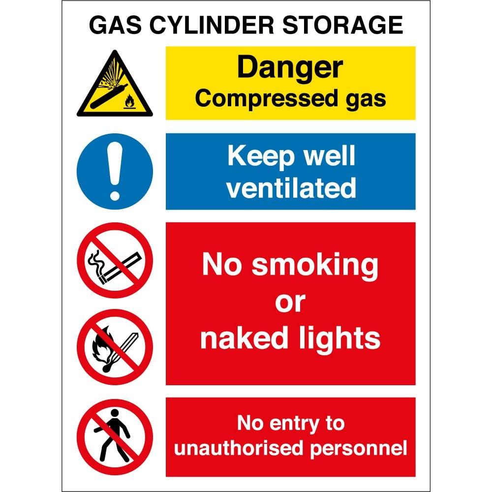 Gas Cylinder Storage Signs