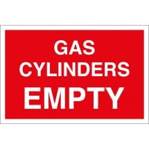 Gas Cylinders Empty Signs