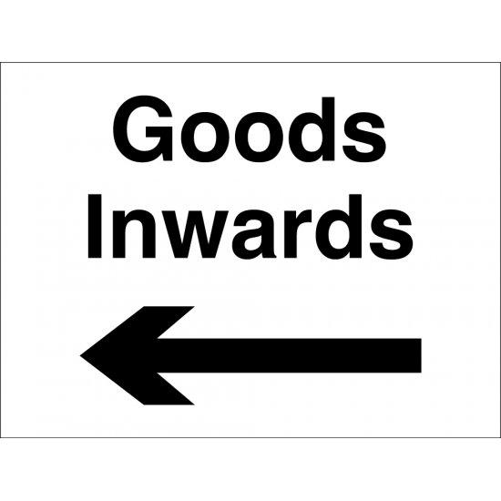 Goods Inwards Arrow Left Signs