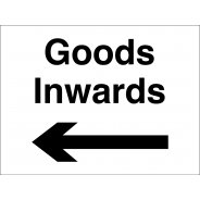 Goods Inwards Arrow Left Signs