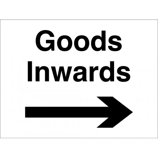 Goods Inwards Arrow Right Signs
