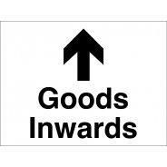 Goods Inwards Arrow Up Signs