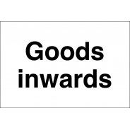 Goods Inwards Signs