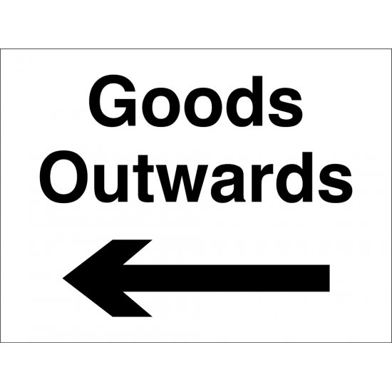 Goods Outwards Arrow Left Signs