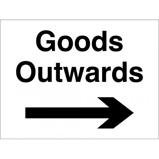 Goods Outwards Arrow Right Signs