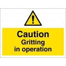 Gritting In Operation Signs
